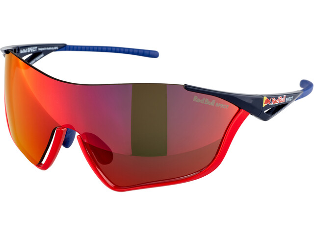 Red Bull SPECT Flow Occhiali da sole, glossy red/glossy blue/smoke-red